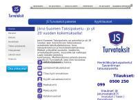 Nettisivu: Järvi-Suomen Taksipalvelu oy