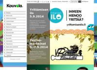 Nettisivu: Kouvolan kaupunki Kuusankosken Työväenopisto Naukion toimipiste